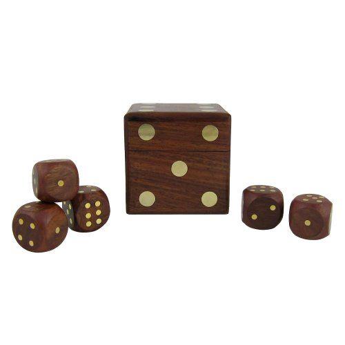 Game Dice Box With Five Dice Set ShalinIndia http://www.amazon.com/dp/B007XPLBNU/ref=cm_sw_r_pi_dp_0vKJvb18MCF6T