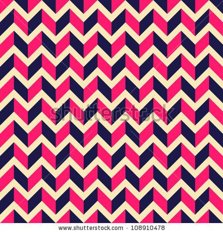 Seamless geometric pattern with zigzags. Can be used in textiles, for book design, website background. by Mrs. Opossum, via ShutterStock