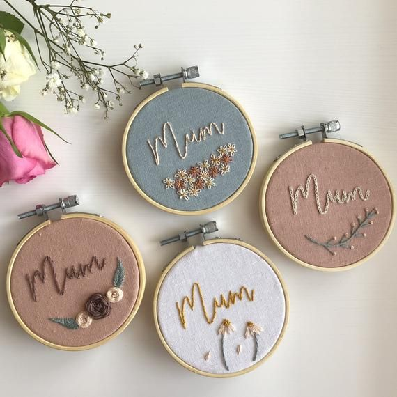 Flowers Home Decor Embroidery Hoop Art 5\u201d hoop Birthday Gift Floral Mother/'s Day Gift