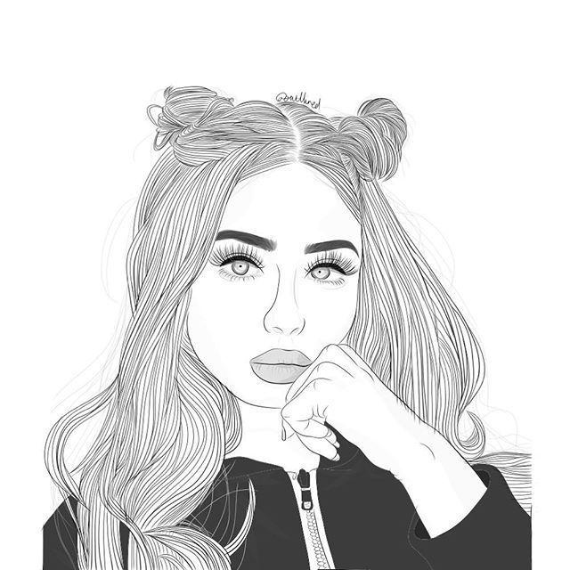 Resultado De Imagen Para Dibujos Para Colorear De Chicas Tumblr