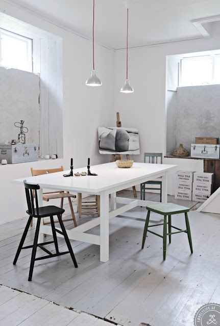 BODIE and FOU★ Le Blog | Effortless chic | French Interiors | Inspiring Design: House tours IF you have 2 lights - actually looks great having 2 smaller ones with the colour coming from the flex only