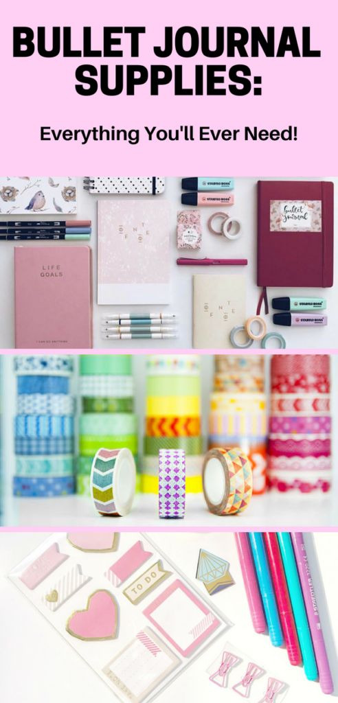 Get the most out of your bullet journal with these fun and useful supplies. This list has everything you'll ever need for bullet journaling!