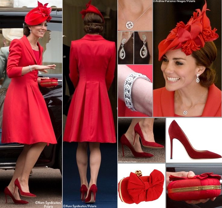 Kate Busy July Red Catherine Walker Ensemble Order Garter Poll Final July 7 2016