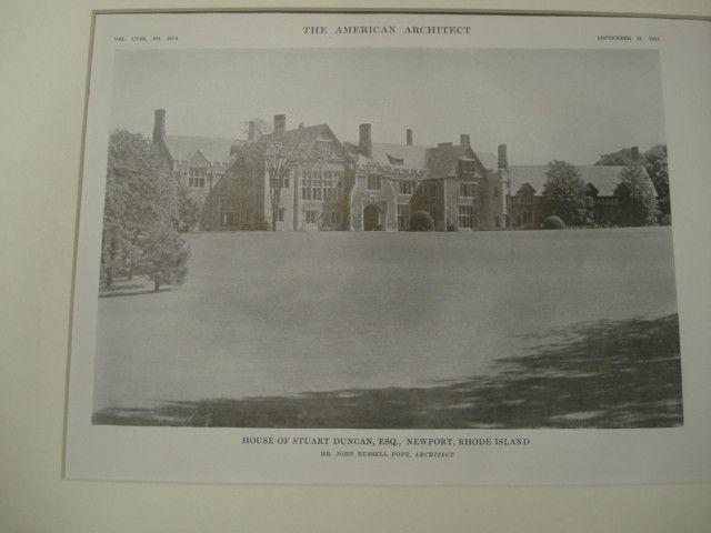 House of Stuart Duncan, Newport, RI, 1915, John Russell Pope