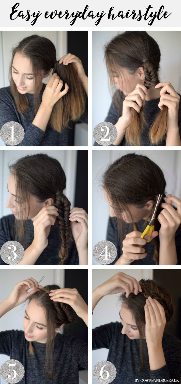 Easy everyday hairstyle: Fishtail Braid Crown tutorial.  5 minute hairstyle for lazy people who like to trick people into thinking they get up early ;)