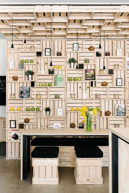 Design e Decoração- Blog de Decoração: Decoração usando caixotes de madeira