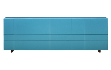 Kilt Credenza: Tartan pattern turquoise credenza from Stockholm. love!