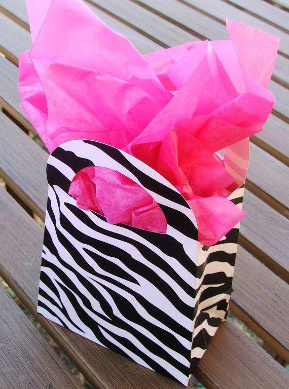Zebra Party Bags