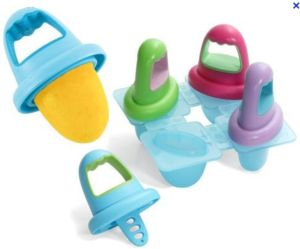 Baby Popsicle Molds! Make coconut water pops or breast milk pops.. Good for teething. I will remember to do this!