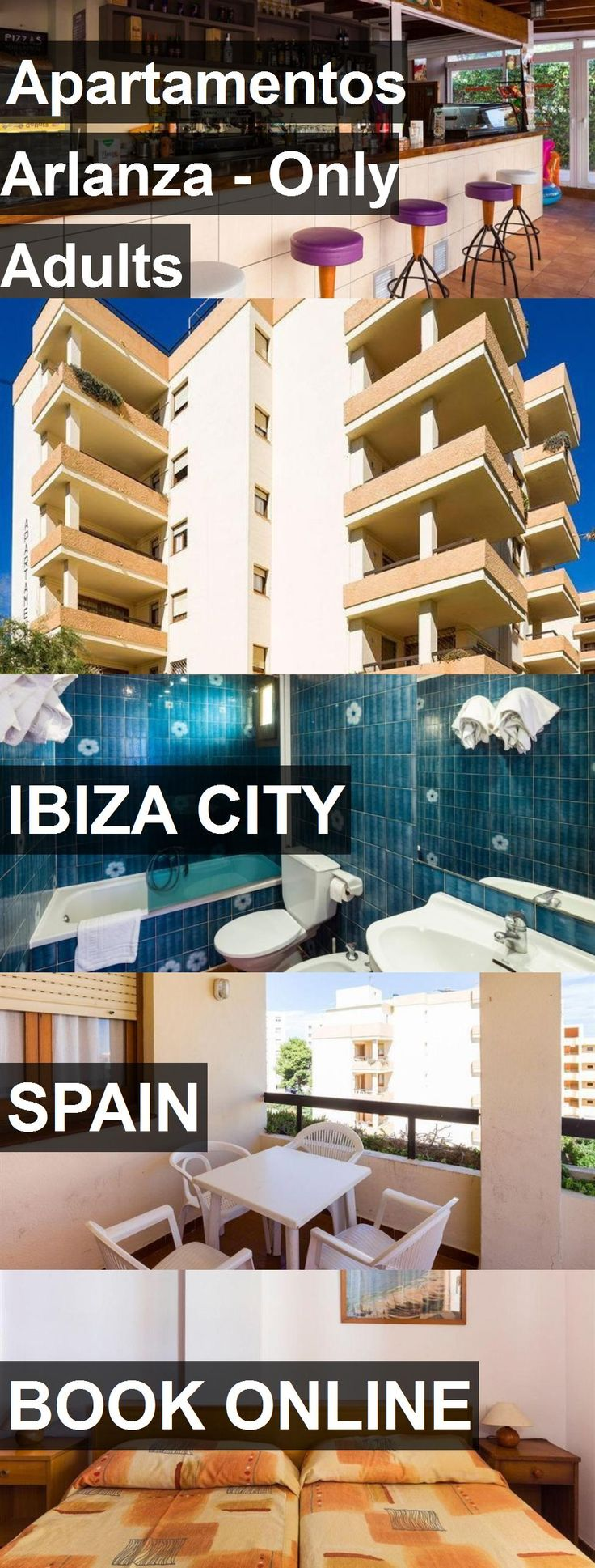 Hotel Apartamentos Arlanza - Only Adults in Ibiza City, Spain. For more information, photos, reviews and best prices please follow the link. #Spain #IbizaCity #ApartamentosArlanza-OnlyAdults #hotel #travel #vacation