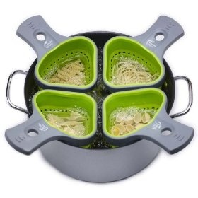 Jokari Pasta Baskets and Portion Control System! $25 this would be cool to cook diff things in each sectionGift Ideas, Food, Control Pasta, Portioncontrol, Healthy Step, Kitchens Gadgets, Products, Pasta Baskets, Portion Control