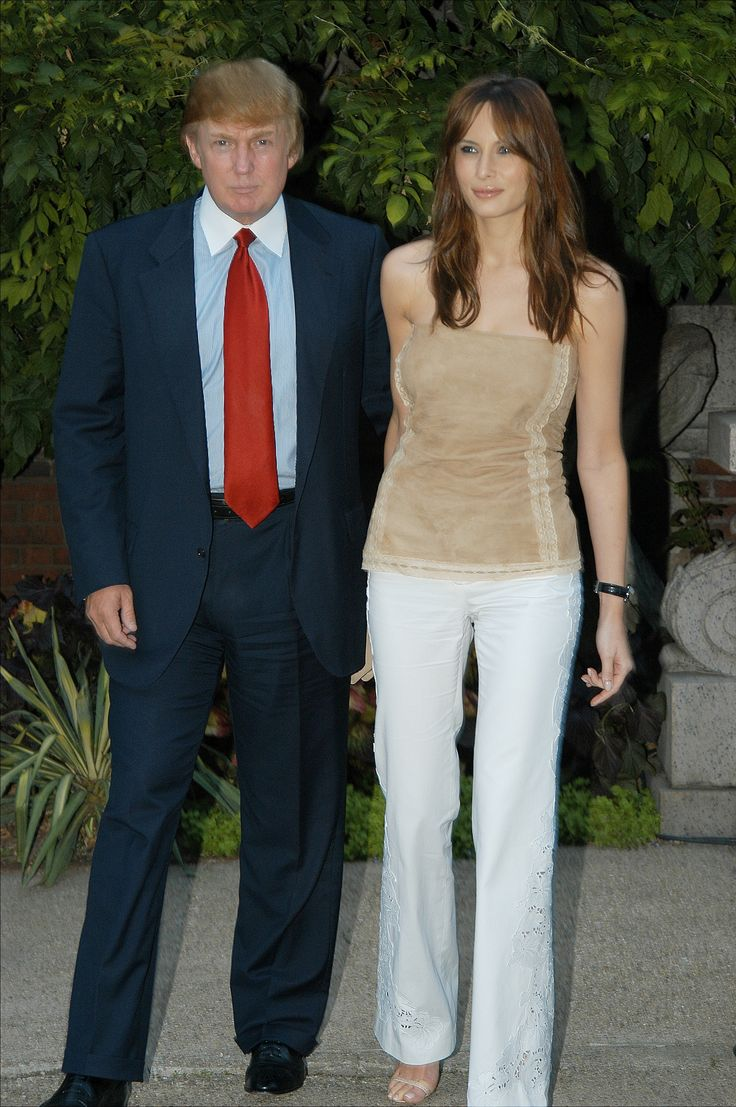 UNITED STATES - JULY 24:  Donald Trump and girlfriend Melania Knauss arrive for Coach's annual garden party at the Cooper-Hewitt Museum.  (Photo by Richard Corkery/NY Daily News Archive via Getty Images) via @AOL_Lifestyle Read more: http://www.aol.com/article/lifestyle/2016/11/10/ivanka-trump-style/21603497/?a_dgi=aolshare_pinterest#fullscreen