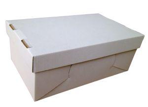 Cipős doboz, fedeles  (280x170x100 mm) hullámkarton fedeles cipős doboz    Méret: 280 x 170 x 100 mm - hullámkarton fedeles cipős doboz    Anyag: fehér vagy barna mikrohullám karton papír    Felhasználás: cipők, papucsok, csizmák tárolására alkalmas hullámkarton cipős doboz