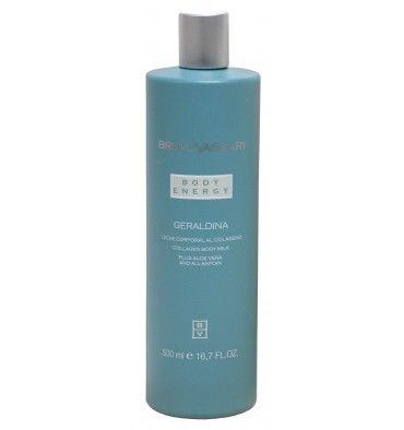 Bruno Vassari-Geraldina COLAGENO BODY MILK Emulsión hidratante y revitalizante enriquecida con emolientes. Las propiedades del colágeno soluble ayudan a mantener la piel hidratada y flexible. Mejora la textura de la piel y el tono.