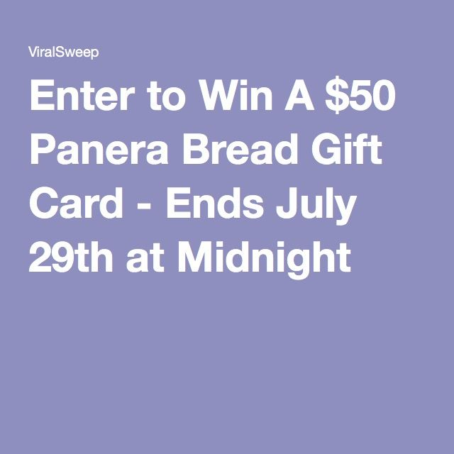 Enter to Win A $50 Panera Bread Gift Card - Ends July 29th at ...