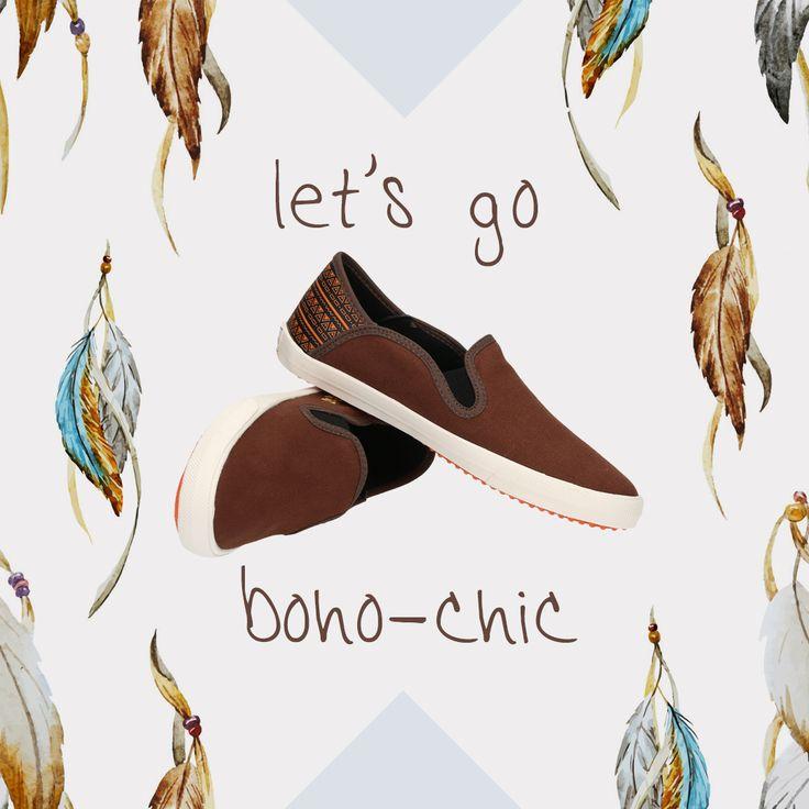 Ardiles Sneakers Lovers, apa sih bohemian style itu? Style ini adalah perpaduan dari gaya hippie, etnik, gipsy dan juga vintage. Padu padan bohemian style ini bebas, tapi terlihat loose dan berbahan kain yang melambai. Kalian bisa memakai maxi dress berbahan sifon dan bermotif bunga. Selain maxi dress, bisa juga memilih rok midi atau maxi dengan motif floral. Untuk sepatu, biasanya memang bohemian style dipasangkan dengan boots atau high-heels.  Tapi gimana kalau dipasangkan dengan sneakers?…