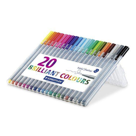 Staedtler Pigment Fineliner Kleur  - 20 stuks