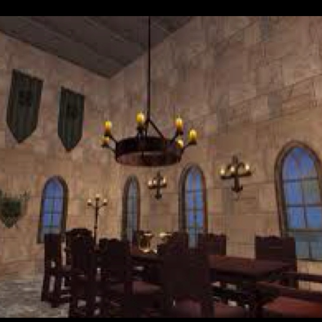 Medieval Dining Room! Love the space!