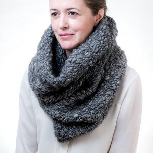 Aurelian Spun and Woven: Hand spun and woven goods thoughtfully made, also can double as a hood.