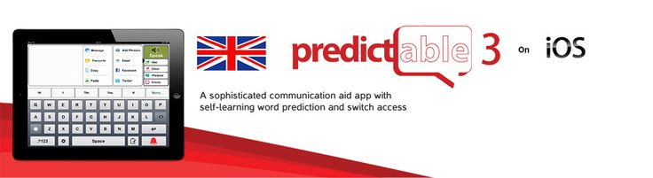 Predictable - #AAC #app, you can record your own voice, copy and paste to other places on your device, multi-task, has word prediction, and can be used to update your social media or send an email, has a phrase bank, #switch accessible, and enables you to write words directly onto the iPad with your finger. Also available for #Android. #assistivetech #assistivetechnology #Spanish