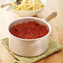 Tomatensaus Arrabiata, een lekkere lichte saus voor over pastagerechten. 1p