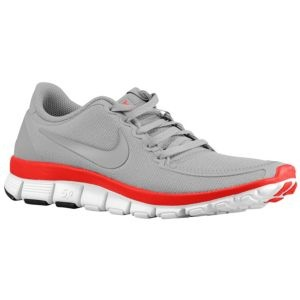 might need these for BUCKEYE FOOTBALL season!     Nike Free Run 5.0 V4 - Women's - Sport Inspired - Shoes - Wolf Grey/Wolf Grey/Siren Red/White