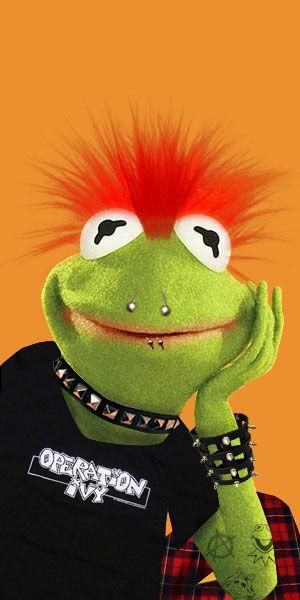 Punk Rock Kermit The Frog