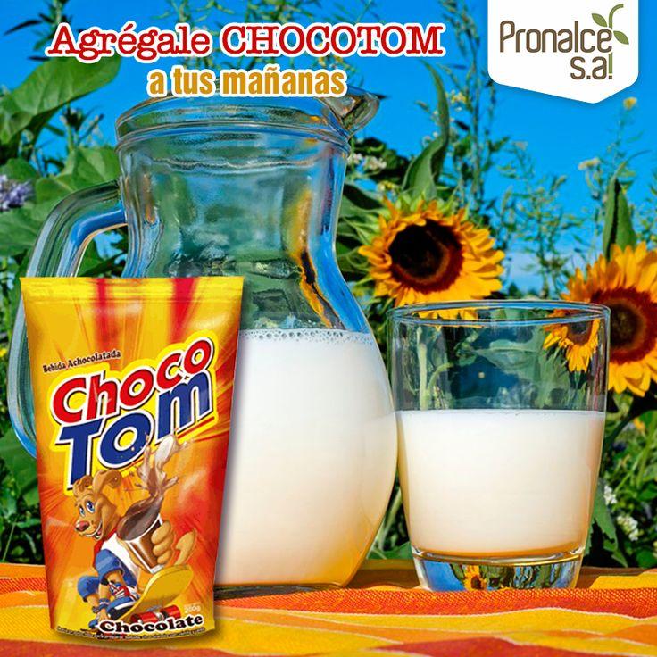 ¿Qué le hace falta a tu leche esta linda mañana? ¡Nuestra mezcla en polvo lista para preparar #Chocotom!#Pronalce #DelSur #Chocotom #cereal #breakfast #desayuno #avena #integral #salud #saludable #feliz #love #hojuelas #maiz #lonchera #snack #granola #frutosrojos #banano #deleitar #alimentos #granos