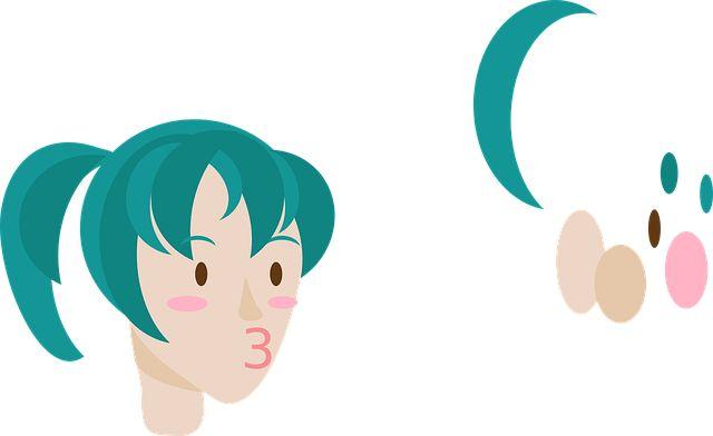 Бесплатное изображение на Pixabay - Синий, Грин, Волосы, Каваи, Аниме