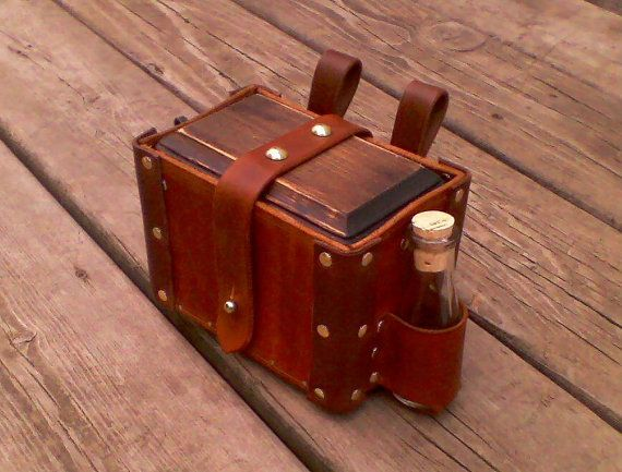 Apothecary Tool box belt bag for steampunk or by SteampunkandSCA, $85.00