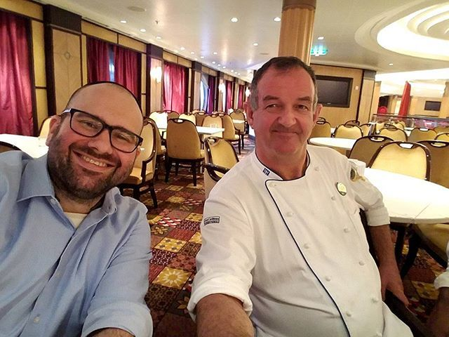 Having a meeting for the Bar-Mitzvah With executive chef Sean from the Allure of the Seas.  #kosherextreme #kosher #kosherevents #barmitzvah #jewish #kosheraroundtheworld #kosherchef #meeting #chef #kitchen #galley #eventplanner #event #party #cruise #rabbi #amazing #tbt by kosherextreme. jewish #kosherchef #tbt #meeting #chef #cruise #barmitzvah #party #kosherextreme #kitchen #kosherevents #amazing #eventplanner #kosher #event #kosheraroundtheworld #rabbi #galley #meetingprofs #eventprofs…