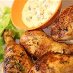 Spicy Hot Chicken Legs | This is just like spicy chicken wings, only less work. Cooks up nicely in the slow cooker! For crispier chicken, bake in the oven for the final 30 minutes.