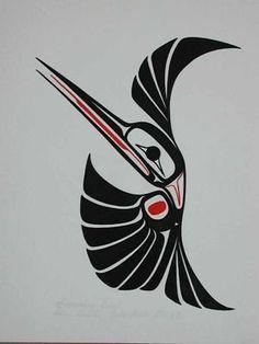 haida hummingbird tattoo - Google Search