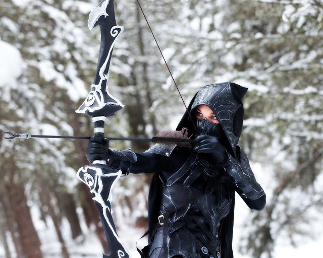Beebichus Costume Creations: How to make Skyrim armor: Nightingale set with bow and sword