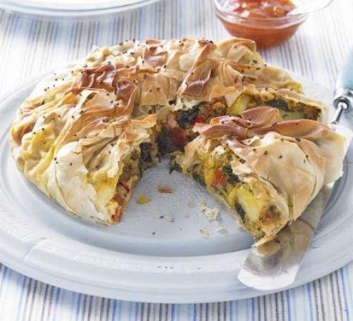 Bombay potato & spinach pies