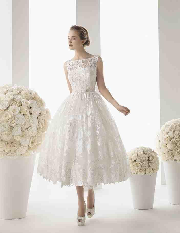 Casual Tea Length Wedding Dresses