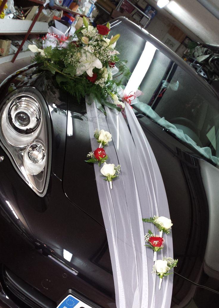 Décoration de voiture - Mariage de J & C - Juillet 2014