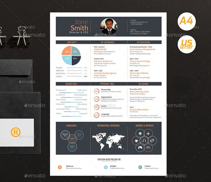 30 best Creative Infographic Resume Templates images on Pinterest - resume template maker