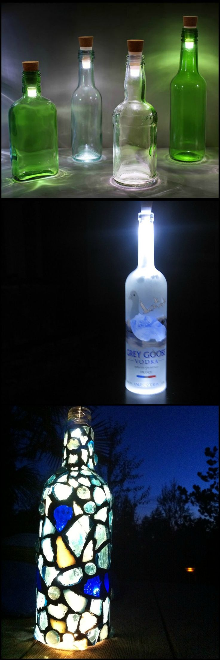 Have you been collecting glass bottles for some the for Glass bottle project ideas
