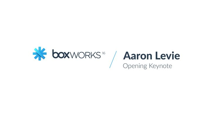 BoxWorks 2016.- Box CEO Aaron Levie