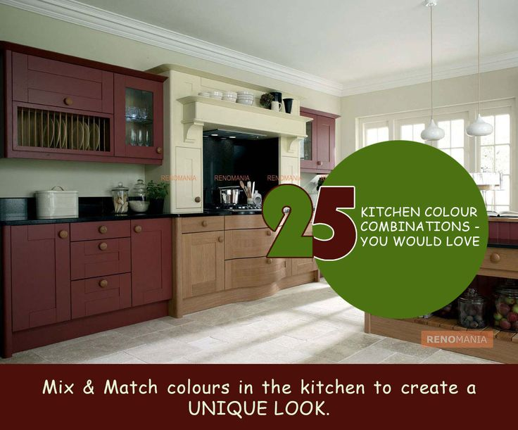 Mix and Match your heart of the home Kitchen , with some interesting colour combination ideas. See more kitchen design ideas at renomania.com""