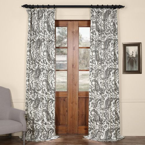 Found it at Joss & Main - Samantha Paisley Semi-Opaque Single Rod Pocket Curtain Panel