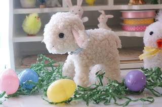 cotton pickin' fun!: handmade vintage style stuffed lamb, with free pattern and tutorial. Perfect for Easter!
