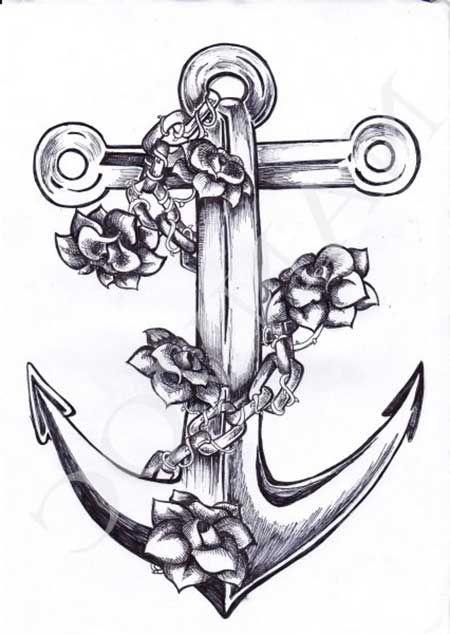 desenhos de tatuagens de ancora - Pesquisa Google