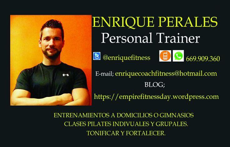 Nuestro #PersonalTrainer #EnriquePerales #EntrenadorPersonal #Claudiasdaddys https://empirefitnessday.wordpress.com