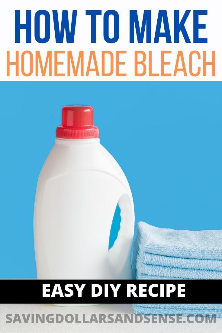 Homemade Bleach Recipe Just 3 Ingredients Homemade Bleach Diy