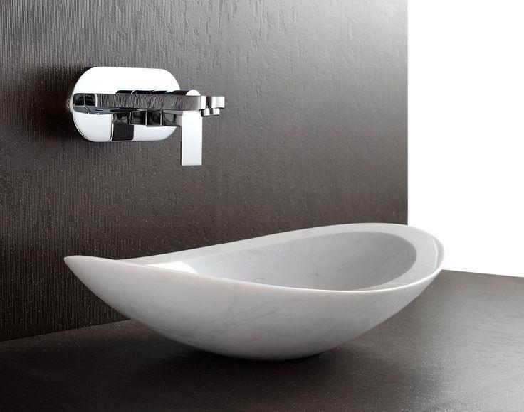 'Nero' White Marble Basin $685
