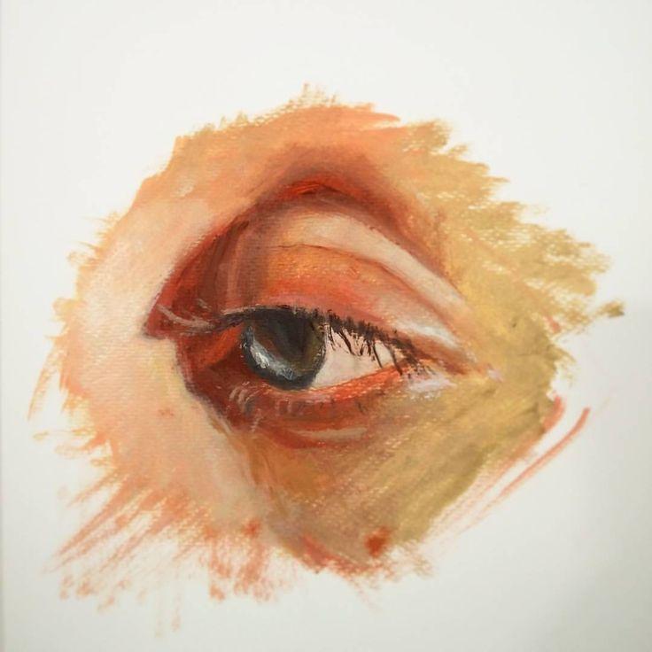 Eye oil painting sketch.