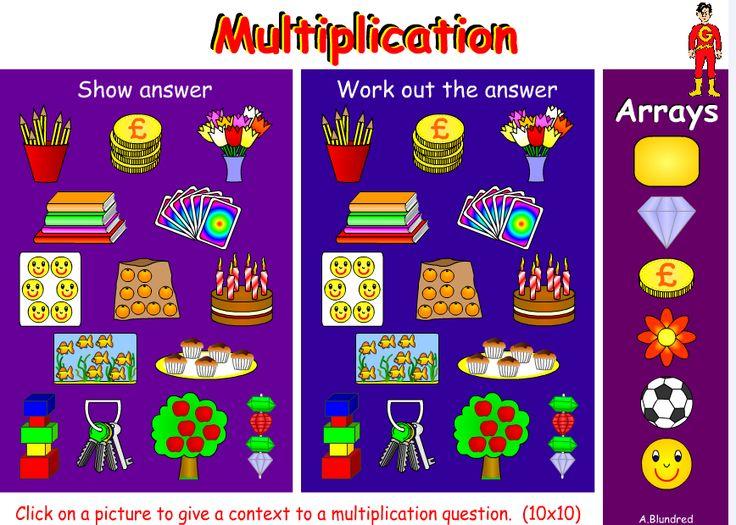 Gordons Multiplication program includes an arrays section   Concrete ...