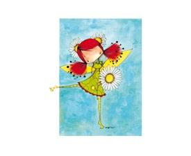 Carte de souhaits Ketto - fée marguerite / Ketto's greeting card - flower fairy  www.kettodesign.com